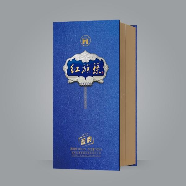红旗渠蓝韵高档手工盒-江阴新艺酒包装 酒盒 包装
